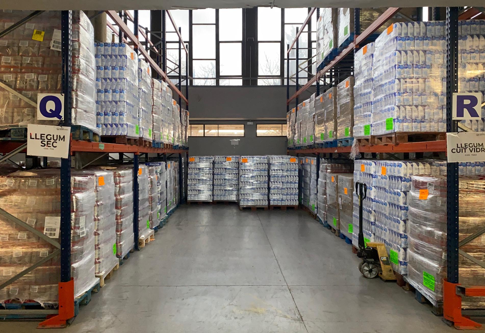 Imatge magatzem del banc dels aliments