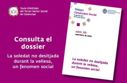 Imatge corporativa del dossier Catalunya Social sobre la soledat no desitjada durant la vellesa