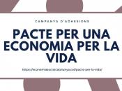 Imatge de la campanya pacte per una economia per la vida