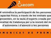 Imatge de la reclamació d'ECOM sobre la taula d'experts de la revisió del model d'autonomia